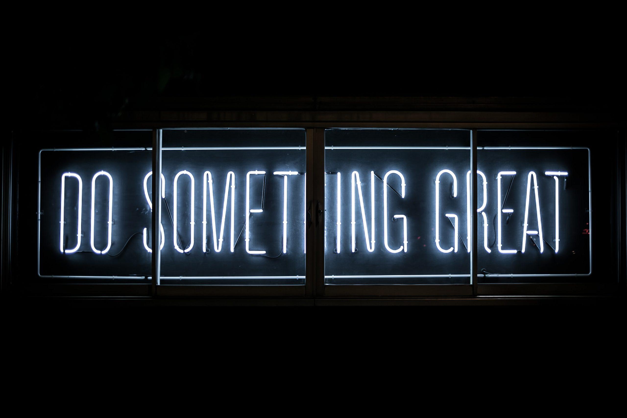 """Image """"Do something great"""""""